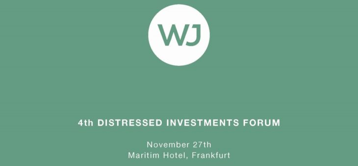 Martin Paev, Chairman of SORTIS Group, Spoke at the 4th Distressed Investments Forum in Frankfurt (Germany)